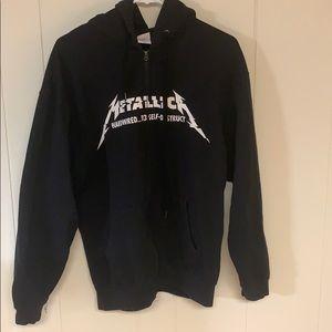 Metallica hoodie.